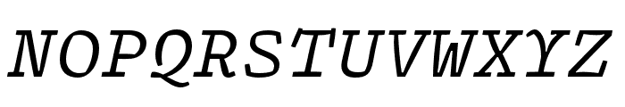 Array Proportional Regular Italic Font UPPERCASE