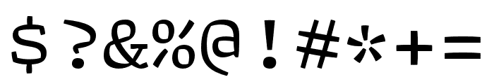 Array Proportional Regular Font OTHER CHARS