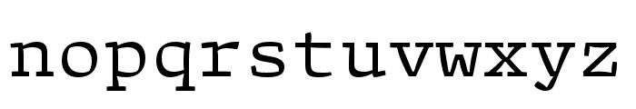 Array Proportional Regular Font LOWERCASE