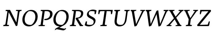 Artigo Regular Italic Font UPPERCASE