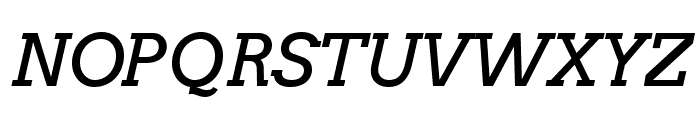 Arvo Italic Font UPPERCASE