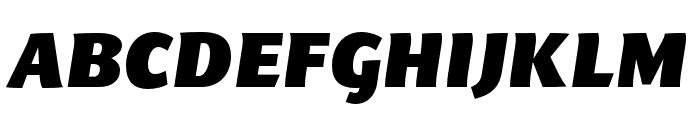 Arzachel Black Italic Font UPPERCASE