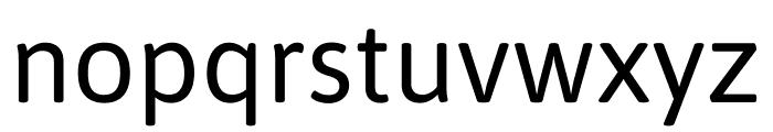 Asap Regular Font LOWERCASE