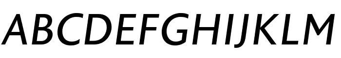 Astoria Sans Roman Italic Font UPPERCASE