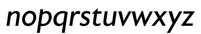 Astoria Sans Roman Italic Font LOWERCASE