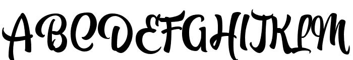 Atocha Regular Font UPPERCASE
