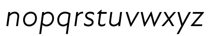 Atten New Book Italic Font LOWERCASE