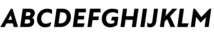 Atten New ExtraBold Italic Font UPPERCASE