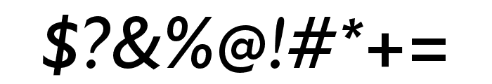 Atten New Medium Italic Font OTHER CHARS