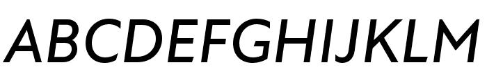 Atten New Medium Italic Font UPPERCASE