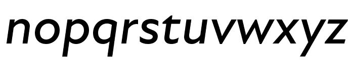 Atten New Medium Italic Font LOWERCASE