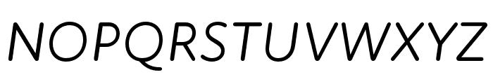 Atten Round New Regular Italic Font UPPERCASE