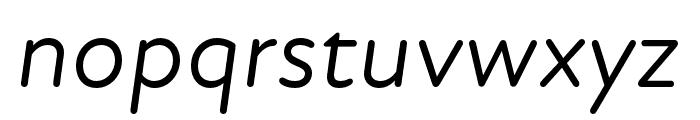 Atten Round New Regular Italic Font LOWERCASE