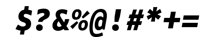 Attribute Mono Black Italic Font OTHER CHARS