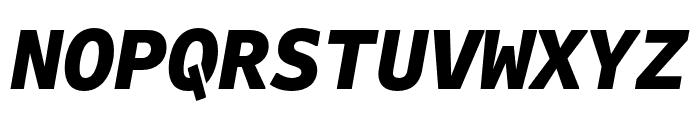 Attribute Mono Black Italic Font UPPERCASE