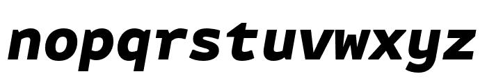 Attribute Mono Black Italic Font LOWERCASE