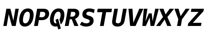Attribute Mono Bold Italic Font UPPERCASE