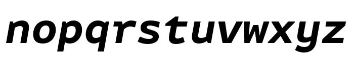 Attribute Mono Bold Italic Font LOWERCASE