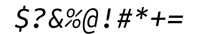 Attribute Mono Italic Font OTHER CHARS