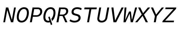 Attribute Mono Italic Font UPPERCASE