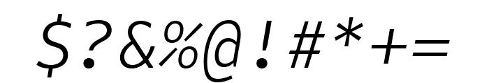 Attribute Mono Light Italic Font OTHER CHARS