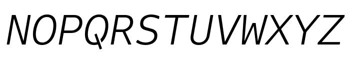 Attribute Mono Light Italic Font UPPERCASE