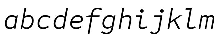 Attribute Mono Light Italic Font LOWERCASE