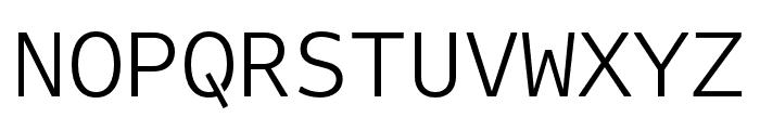 Attribute Mono Light Font UPPERCASE