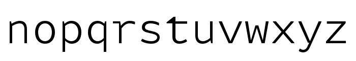 Attribute Mono Light Font LOWERCASE