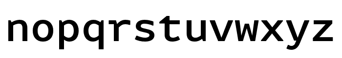 Attribute Mono Medium Font LOWERCASE