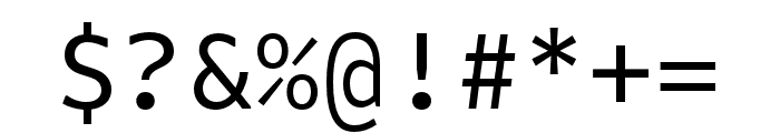 Attribute Mono Regular Font OTHER CHARS