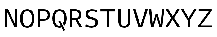 Attribute Mono Regular Font UPPERCASE