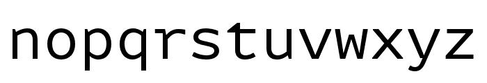 Attribute Mono Regular Font LOWERCASE
