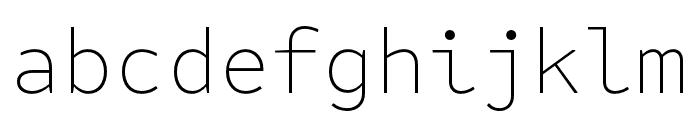 Attribute Mono Thin Font LOWERCASE