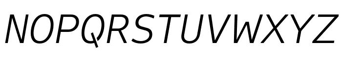 Attribute Text Light Italic Font UPPERCASE