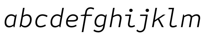 Attribute Text Light Italic Font LOWERCASE