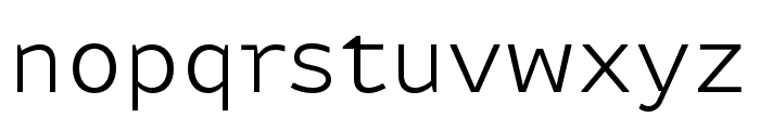 Attribute Text Light Font LOWERCASE