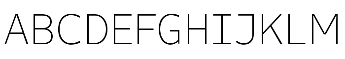 Attribute Text Thin Font UPPERCASE