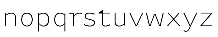Attribute Text Thin Font LOWERCASE