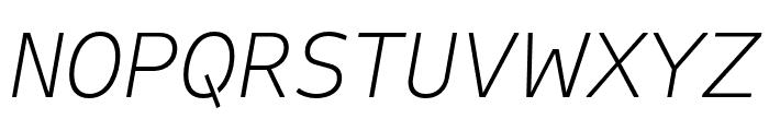 Attribute Text Xlight Italic Font UPPERCASE