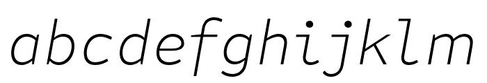 Attribute Text Xlight Italic Font LOWERCASE