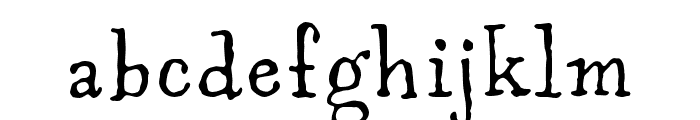 Aunt Mildred MVB Rg OSF Font LOWERCASE