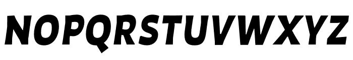 Auster Black Italic Font UPPERCASE