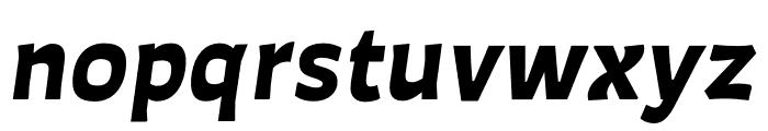 Auster Black Italic Font LOWERCASE