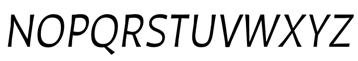Auster Book Italic Font UPPERCASE