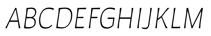 Auster ExtraLight Italic Font UPPERCASE