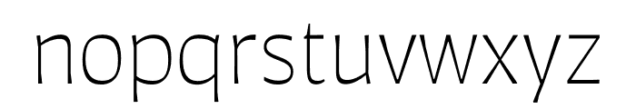 Auster ExtraLight Font LOWERCASE