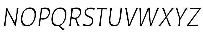 Auster Light Italic Font UPPERCASE