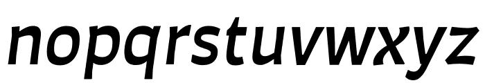 Auster Medium Italic Font LOWERCASE