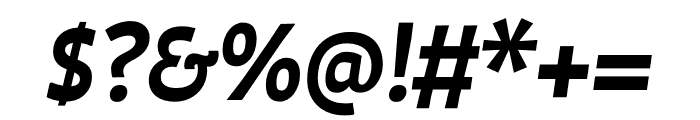 Auster SemiBold Italic Font OTHER CHARS